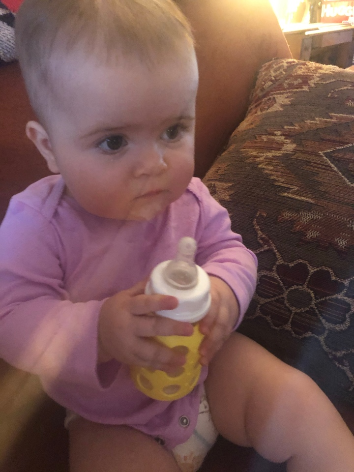 Transitioning from a bottle to a sippy cup